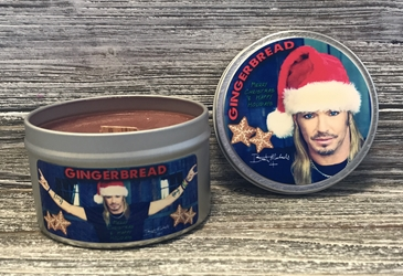 Bret Michaels Gingerbread (Photo) Candle - Tin