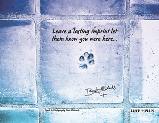 Leave an Imprint Postcard (Blue Tone)