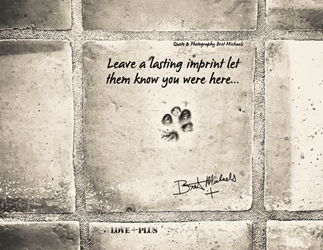 Leave an Imprint Postcard (Silver Tone)
