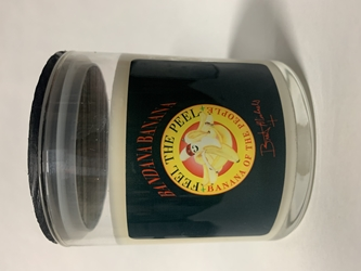 Bandana Banana Candle Jar Bret Michaels, Brett Michaels, Bret Micheals, Brett Micheals, LIfestyle, Style, Life, Collection, Home, Inspiration, gifts, candle, LOVE+PLUS, banana, bandana