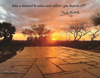 Relax and Reflect Postcard