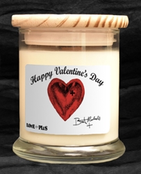 Happy Valentines Day Medium Jar Candle Bret Michaels, Brett Michaels, Bret Micheals, Brett Micheals, LIfestyle, Style, Life, Collection, Home, Inspiration, gifts, candle, LOVE+PLUS, raspberry vanilla, valentines day